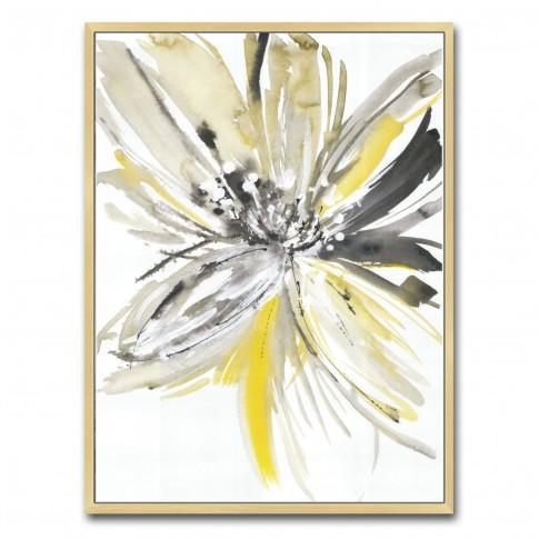 Tablou canvas TA21-AP0271, floare in acuarela, panza, cu rama, 40 x 30 cm