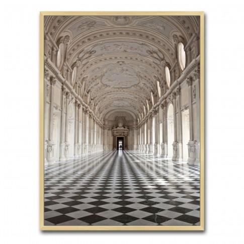 Tablou canvas TA21-AP0266, interior de palat, panza, cu rama, 40 x 30 cm