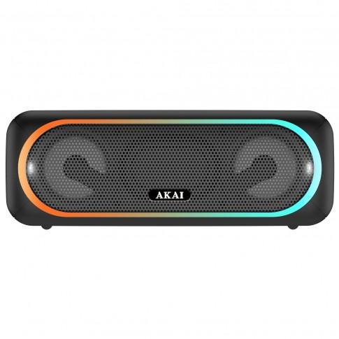 Boxa portabila activa Akai ABTS-141, 5.8 W, Bluetooth, USB, micro SD card slot, Aux in, functie True Wireless Sound, neagra
