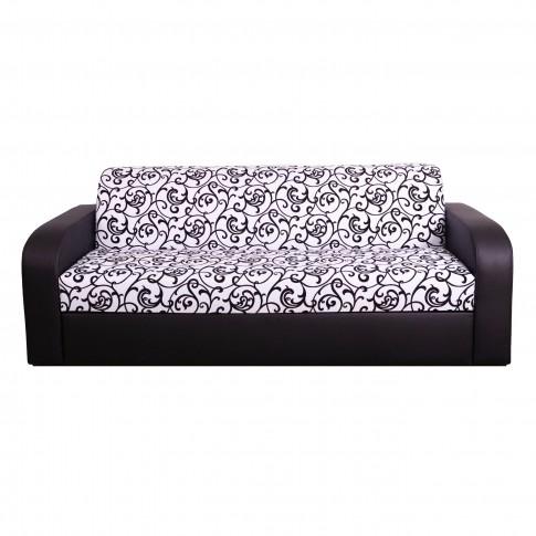 Canapea extensibila + fotolii Mini V8, alb + negru, 4C