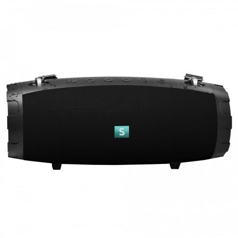 Boxa portabila activa Samus Monster, 70 W, Bluetooth, USB, micro SD card slot, Aux in, functie True Wireless Sound, functie Handsfree, functie Powerbank, functie anti-soc, nivel de rezistenta IPX7, neagra