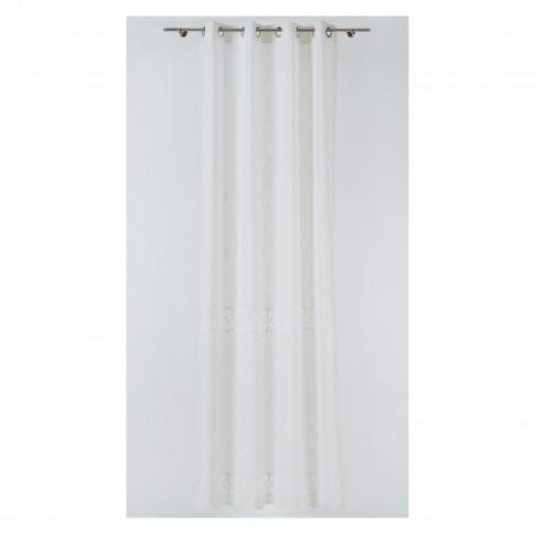 Perdea Mendola Fabrics, model Spagna, Quadra, natur, alb, 280 cm