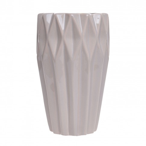 Vaza decorativa, ceramica, bej, 9 x 15 cm