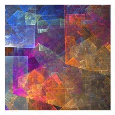 Tablou canvas Decor, abstract CV08714, panza + sasiu, 60 x 60 cm