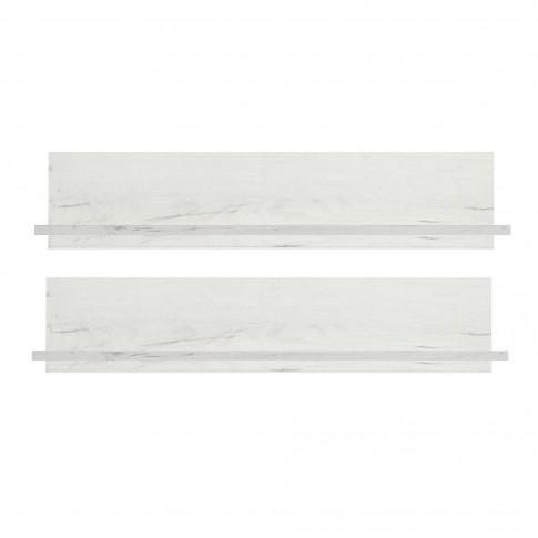 Etajera camera tineret Stefan, stejar alb, set 2 bucati, 90 x 19.5 x 15 cm, 1C