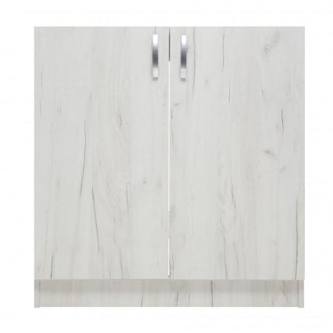 Masca chiuveta bucatarie, stejar alb, 80 x 51.5 x 83 cm, 1C