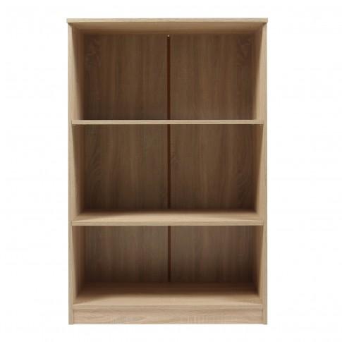 Etajera birou Rubin, 3 rafturi, stejar sonoma, 75 x 40 x 117 cm, 1C