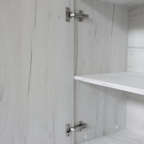 Etajera camera tineret Stefan, cu o usa + rafturi, stejar alb, 45 x 203 x 37 cm, 2C