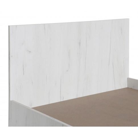 Pat camera tineret Stefan, o persoana, stejar alb, 90 x 200 cm, 2C