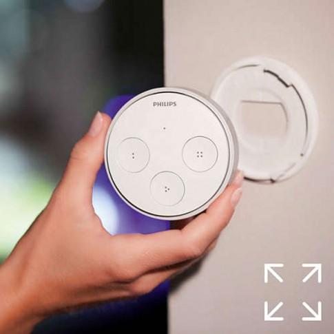 Intrerupator inteligent Philips Hue Tap, wi-fi, montaj aparent, 4 butoane, alb