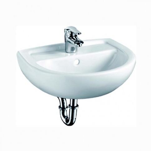 Lavoar Basic 4145 90, alb, rotunjit, 45.5 cm