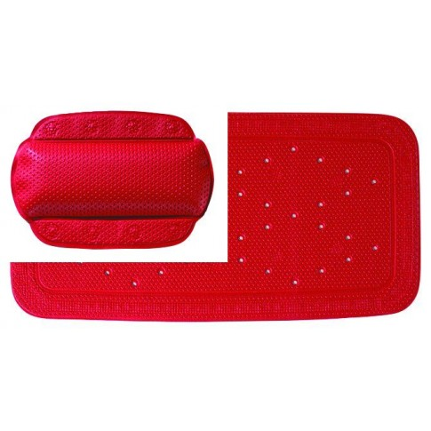 Set accesorii antiderapante pentru cada, Kleine Wolke Calypso 34039, rosu, 2 piese