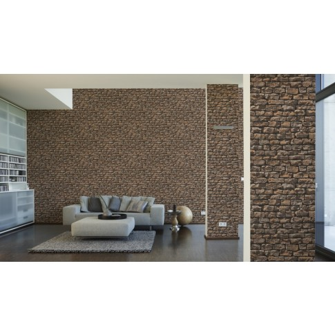 Tapet vlies, model piatra, AS Creation Wood'n Stone 907912, 10 x 0.53 m