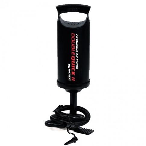 Pompa aer pentru produse gonflabile, manuala, Intex, cu furtun + 3 adaptoare 36 cm