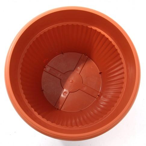Ghiveci din plastic Hobby, maro D 50 cm