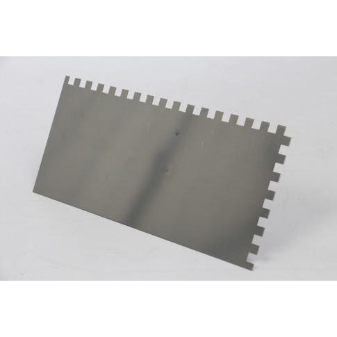 Gletiera inox, cu dinti de 8 mm, Holzer 333, 27 x 13 cm