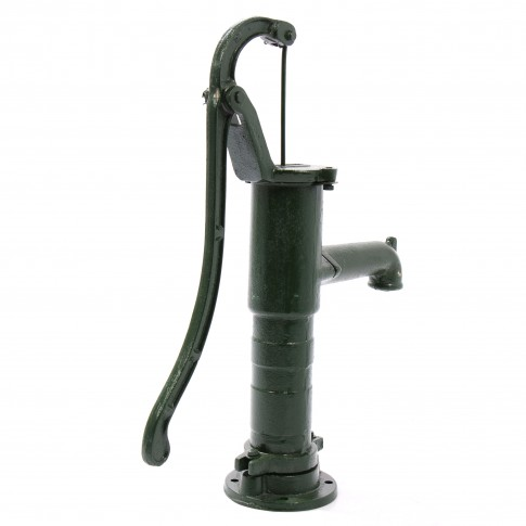 Pompa manuala pentru gradina Hydrosystems Nostalgie 0940105, apa potabila, verde, fonta, H 66 cm