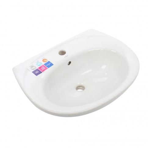 Lavoar Cersanit Roma R60 K07-030, alb, rotunjit, 61 cm