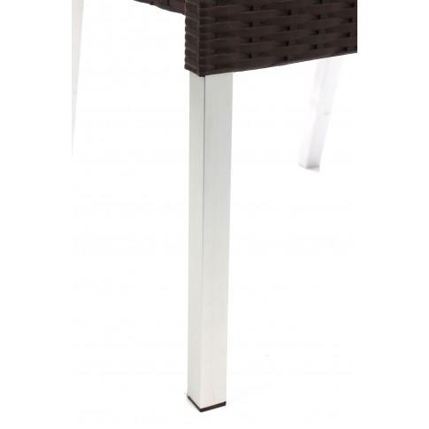 Scaun pentru gradina, Alex, metal + polietilena, maro