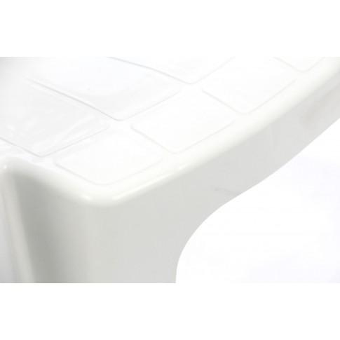 Scaun pentru gradina, Adrian, plastic, alb