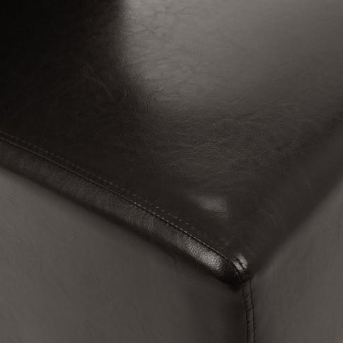 Scaun bucatarie / living fix Munchen, tapitat, lemn negru + imitatie piele wenge