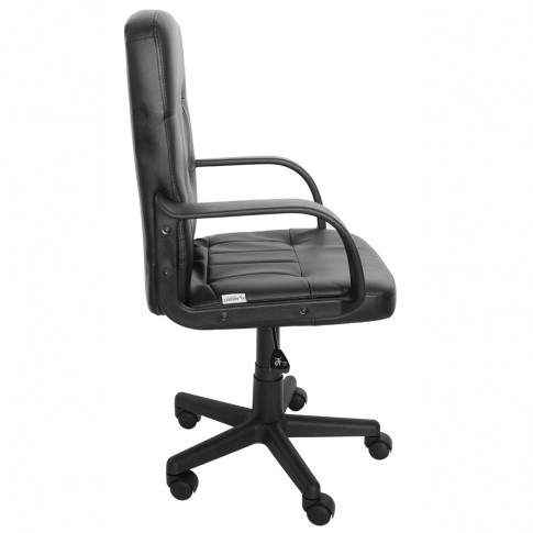 Scaun birou ergonomic Apollo, rotativ, imitatie piele, negru