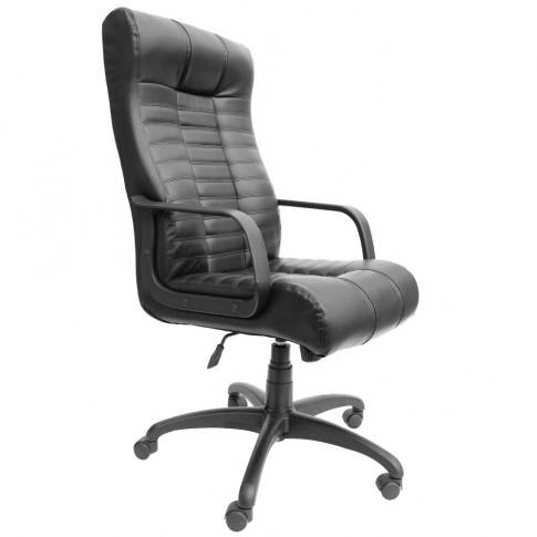 Scaun birou directorial Atlas DS, rotativ, imitatie piele, negru