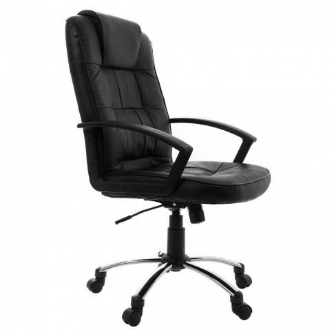 Scaun birou directorial Sigma, rotativ, imitatie piele, negru