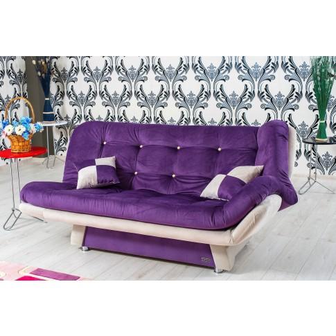 Canapea extensibila 3 locuri Lale, mov + crem, 182 x 90 x 95 cm, 1C
