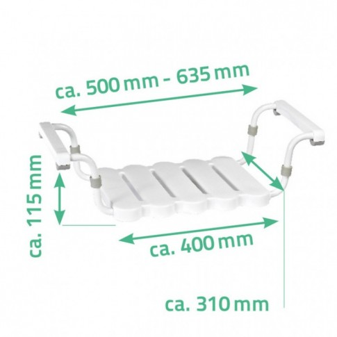 Scaun ajustabil pentru cada, Davo Pro Ridder A00400101, alb