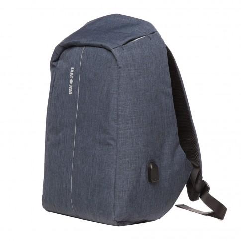 Rucsac pentru laptop cu port USB,  Lamonza Fort, albastru, 46 x 35 x 18 cm