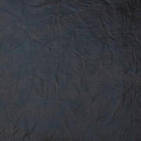 Taburet Aldo tip cub, fix, dreptunghiular, imitatie piele wenge + crem, 40 x 30 x 40 cm