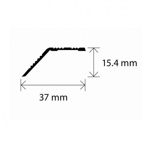 Profil aluminiu de trecere, diferenta de nivel, SET A39 auriu 0.9 m