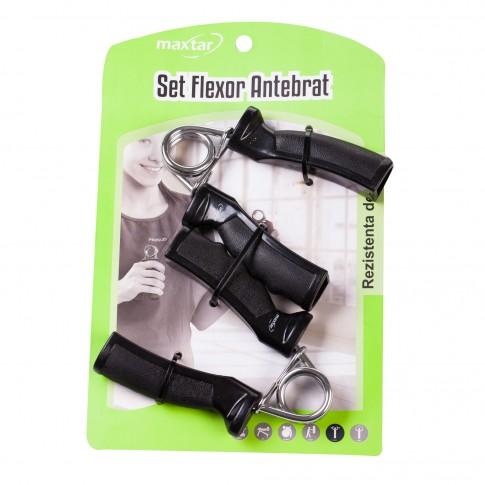 Flexor antebrat Maxtar, otel, rezistenta 10 kg, set 2 buc