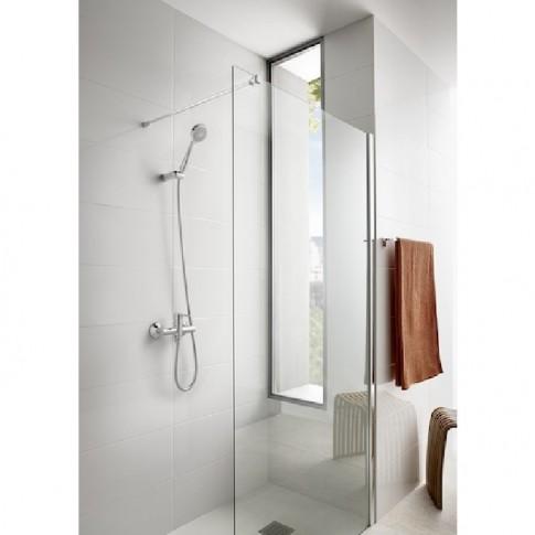 Bateria baie pentru cada / dus, Roca Carelia A5A018AC0K + accesorii, montaj aplicat, monocomanda, finisaj cromat