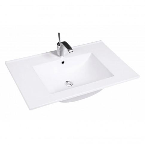 Lavoar Kadda AC8003-75, alb, dreptunghiular, 76 cm
