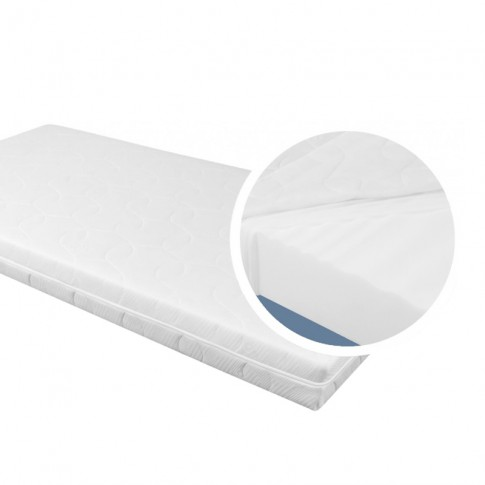 Saltea pat Adormo Essential, ortopedica, 1 persoana, cu spuma poliuretanica, fara arcuri, 125 x 190 cm