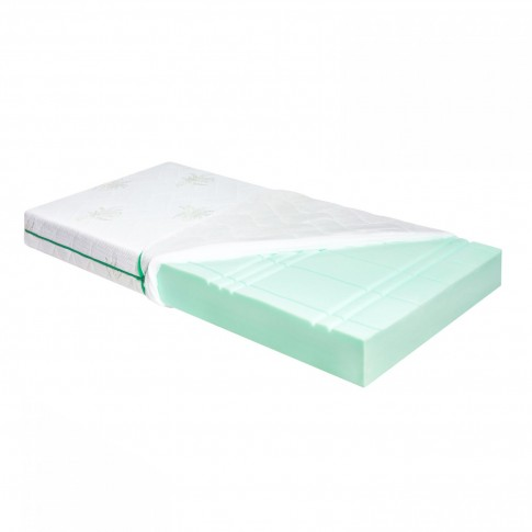 Saltea pat Adormo Ortopedic Green Line, 1 persoana, cu spuma poliuretanica, fara arcuri, 60 x 120 cm