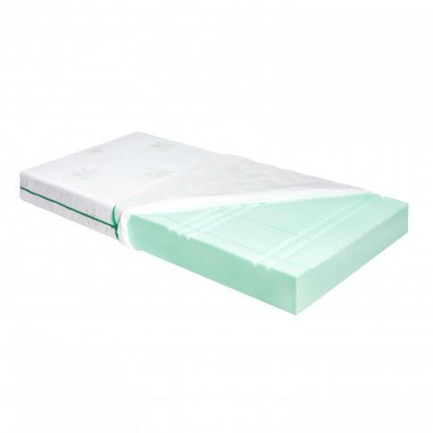 Saltea pat Adormo Ortopedic Green Line, 1 persoana, cu spuma poliuretanica, fara arcuri, 125 x 190 cm