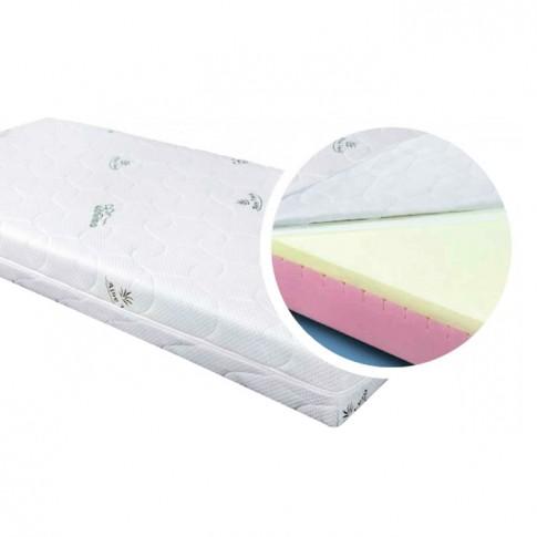 Saltea pat Adormo Memory 14+4, 1 persoana, cu spuma poliuretanica + memory, fara arcuri, 120 x 190 cm
