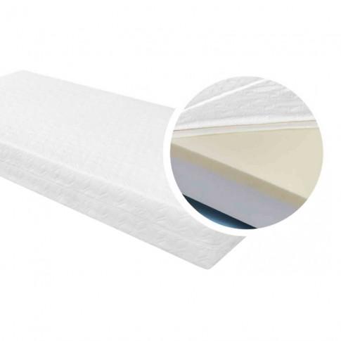 Saltea pat Adormo Memory Silver 15+5, 90 x 200 cm, 1 persoana, cu spuma poliuretanica + memory, fara arcuri