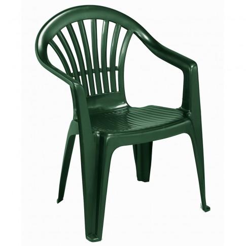 Scaun pentru gradina, Altea, plastic, verde