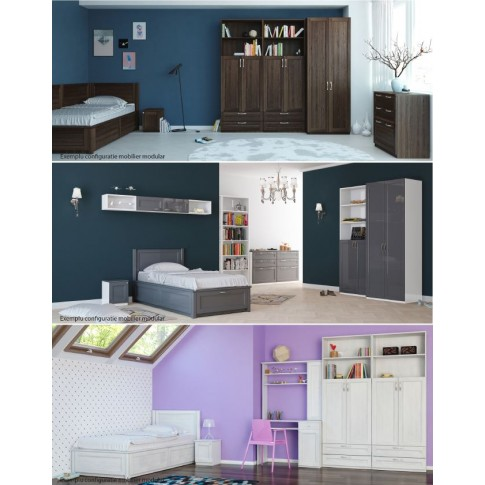 Noptiera camera tineret Natalia T10, cu o usa, furnir diverse culori, 35 x 40 x 35 cm, 1C