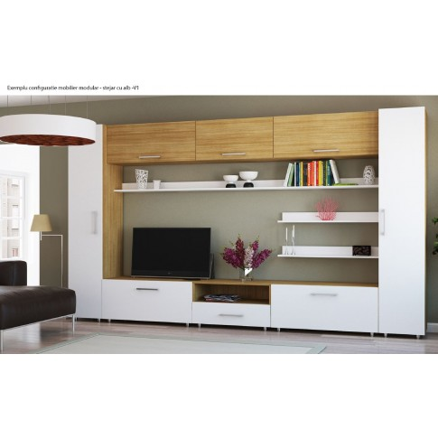 Etajera PAL, Valentino LV17, diverse culori, 40 x 45 x 205 cm, 1C