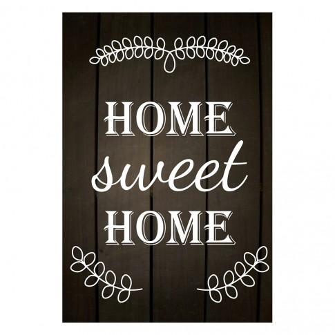 Tablou PT1432, Home sweet home, canvas + sasiu brad, 80 x 60 cm