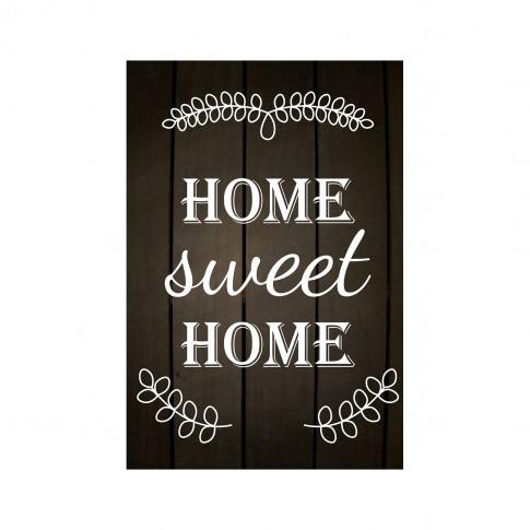 Tablou PT1432, Home sweet home, canvas + sasiu brad, 60 x 45 cm