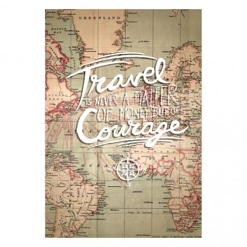 Tablou PT1440, Travel & courage, canvas + sasiu brad, 80 x 60 cm