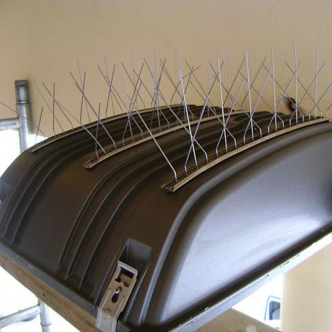 Banda antipasari cu suport din inox, 1 metru, 80 tepi