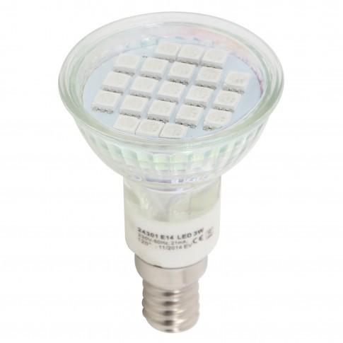 Bec LED color Hepol spot R50 E14 3W lumina albastra