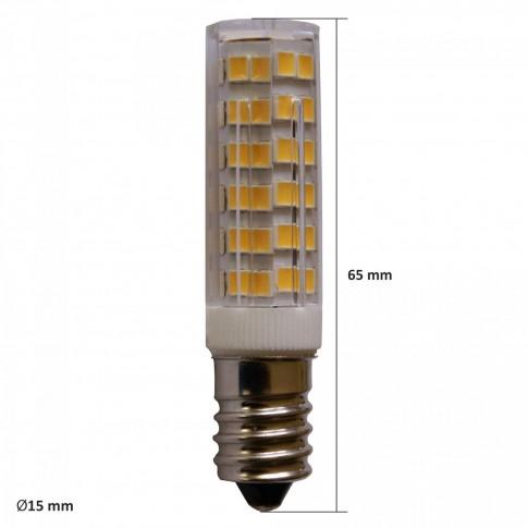 Bec LED Hepol tubular E14 5W 450lm lumina calda 3000 K